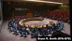 The 15 members of the UN Security Council on September 17 extended the mission for one year with a compromise text. (file photo)