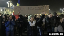Акция протеста в Бухаресте, Румыния, 3 ноября 2015 года.
