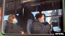 Люди в автобусі Дніпра, 18 березня 2020 року