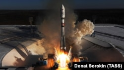 Запуск ракеты с космодрома Восточный в Амурской области