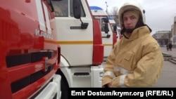 Пожежник у Криму. Архівне фото
