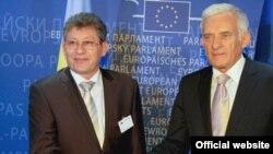 Președintele Mihai Ghimpu cu Jerzy Buzek, președintele PE