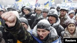 Ukrainian police are looking for footage of demonstrators who rallied in protest against the proposed new tax code.
