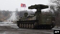 Сепаратисты в Углегорске. 9 февраля 2015
