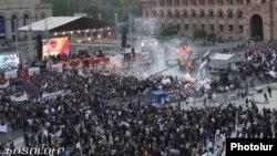 Наслідки вибуху у Єревані