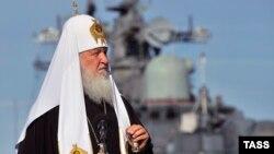 Орыс православие шіркеуінің басшысы патриарх Кирилл.