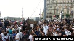 Акция в поддержку Навального в Москве