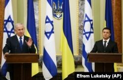 Президент України Володимир Зеленський і прем'єр-міністр Ізраїлю Біньямін Нетаньягу. Київ, 19 серпня 2019 року