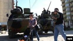 Трупи на КФОР во Косовска Митровица