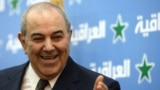 Iraq -- Iyad Allawi, leader of the Iraqi List, speaks to the press in Baghdad, 15Feb2011