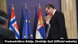 Predsednik Srbije Aleksandar Vučić sa norveškim ambasadorom u Beogradu