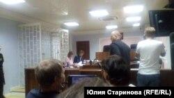 Активист Наталья Подоляк на заседании суда в Красноярске
