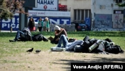 Izbeglice u Beogradskom parku
