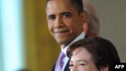 President Barack Obama and Solicitor General Elena Kagan