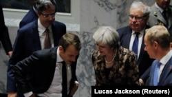 Մեծ Բրիտանիայի վարչապետ Թերեզա Մեյը և Ֆրանսիայի նախագահ Էմանյուել Մակրոնը, արխիվ
