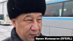 Сәбит Болатов, №1 автобус паркінің директоры. Астана, 27 желтоқсан 2017 жыл.