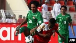 من مباراة العراق وعُمان