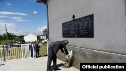 Presidenti i Kosovës, Hashim Thaçi, në Grackë të Lipjanit