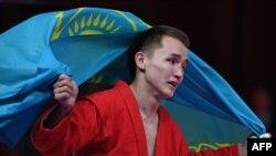 Баглан Ибрагим (самбо), один из спортсменов Казахстана, завоевавший золото на Азиатских играх.