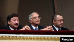 Armenia -- Polad Bulbuloglu (C), Azerbaijan's ambassador to Russia, attends a classical music concert in Yerevan, 24Sept 2010.