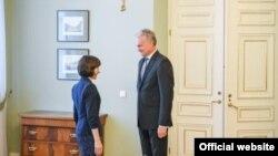 La primirea premierului Maia Sandu de către președintele Gitanas Nauseda, Vilnius