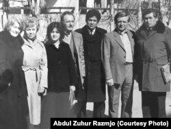 Іосіф Навумчык (справа) і Абдул Зухур Размджо (у цэнтры)