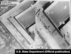 Приближенный спутниковый снимок предполагаемого крематория рядом с военной тюрьмой Сайедная в Сирии