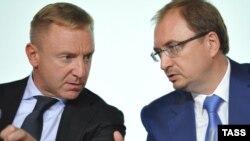 Дмитрий Ливанов (слева) и Николай Кропачев, ректор Санкт-Петербургского государственного университета