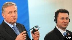 Чешкиот премиер Мирек Тополанек и македонскиот премиер Никола Груевски
