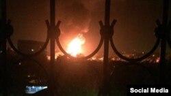 Пожар в Ташкенте.
