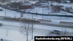Швидкісний трамвай виходить на маршрут, Київ, 24 березня 2013 року