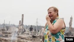 Рязанская область, одна из сгоревших полностью деревень