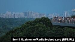 Відкриття «скляного» мосту в Києві у 12 фото