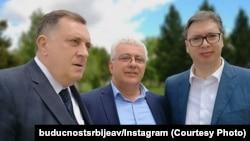 Milorad Dodik, Andrija Mandić i Aleksandar Vučić