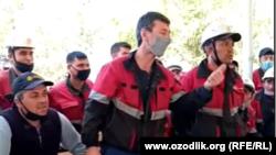 """""""Жызақ Петролиум"""" мұнайшылары."""