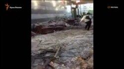 Бомбалаудан бүлінген Түркия парламенті