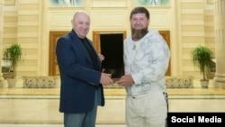 Рамзан Кадыров с Евгением Пригожиным