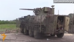 Обстріл позицій сепаратистів із БТР та міномета