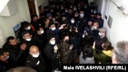 Грузия, Джавахк - Протестующие в мэрии Ахалкалаки, 3 февраля 2021 г․