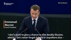 Macron Warns Of 'Deadly Illusion' Of Authoritarianism In Europe