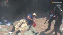 Ukrayna Ali Radasına qumbara hücumu- [video]