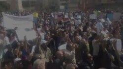 مشهد من مظاهرات 4 آذار في ساحة التحرير ببغداد