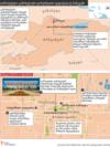 Georgia -- Bishkek protests graphic map