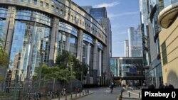 Az Európai Unió intézményeinek épületegyüttese Brüsszelben.