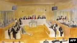 طراحی از نشست امروز دادگاه پاریس
