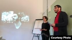 Марина Аланакян и Агит Мирзоев на первой встрече инициативной группы