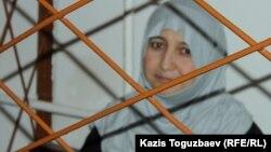 34-летняя Жанна Умирова во время оглашения приговора по делу o пропаганде терроризма. Алматы, 14 июня 2017 года.