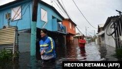 Përmbytjet që ka shkaktuar uragani Maria në Puerto Riko. Shtator, 2017.