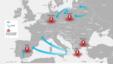 O hartă a contrabandei cu țigări în Europa