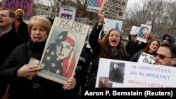 Протест проти імміграційних обмежень у США, Вашингтон, 29 січня 2017 року
